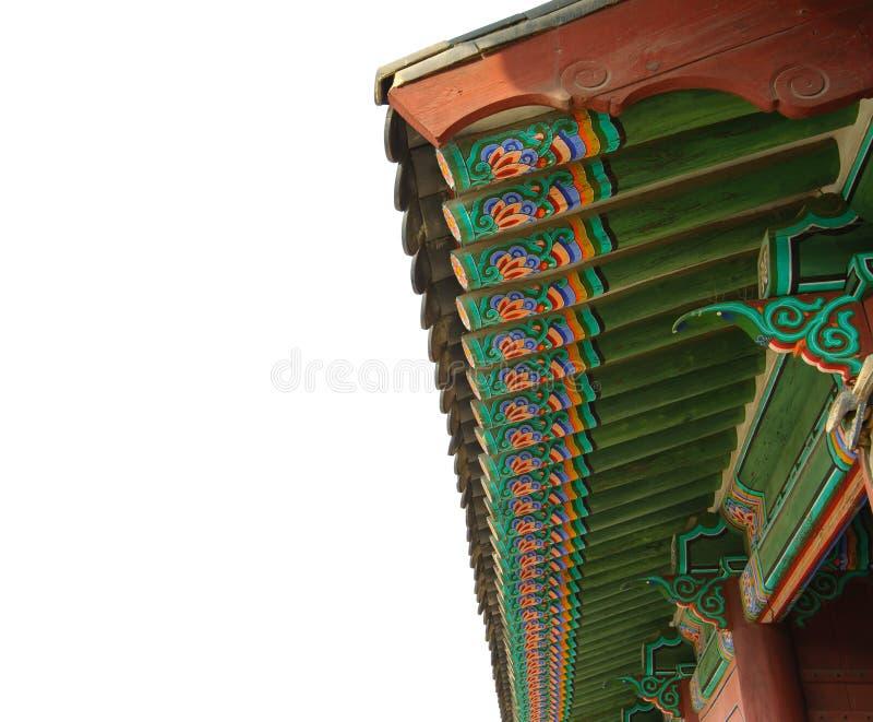 Horizontal de la Corée de palais de kyongbok de toit image libre de droits
