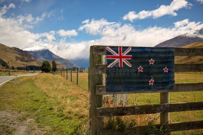Horizontal de la Nouvelle Zélande photo libre de droits