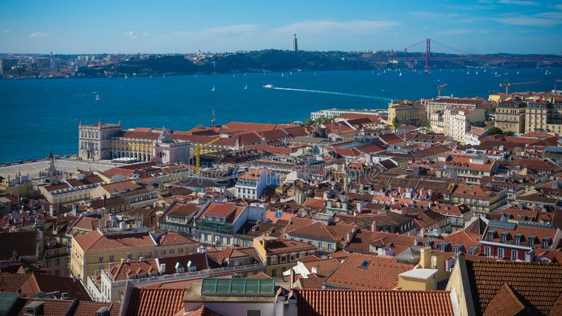 Horizontal de Lisbonne photographie stock
