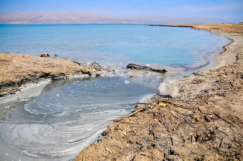 Horizontal de mer morte images libres de droits