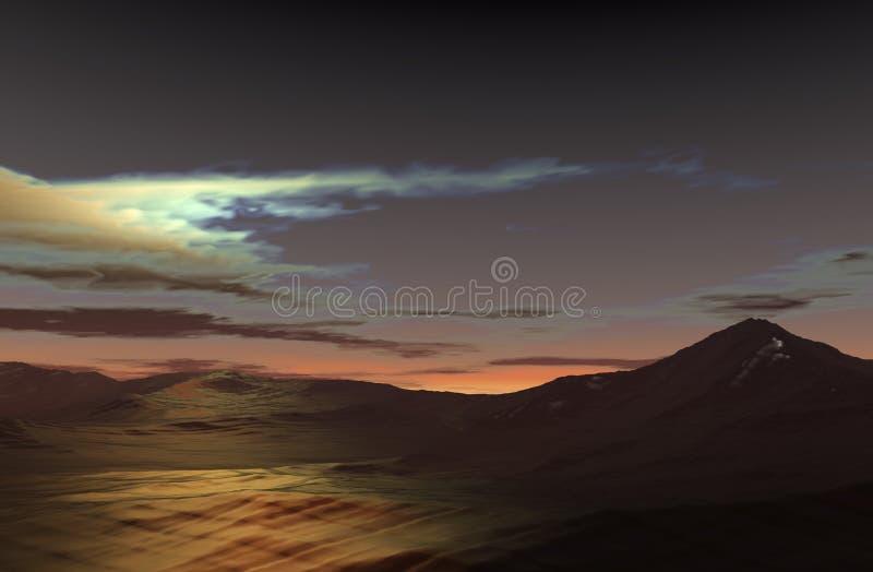 Horizontal de montagne illustration libre de droits