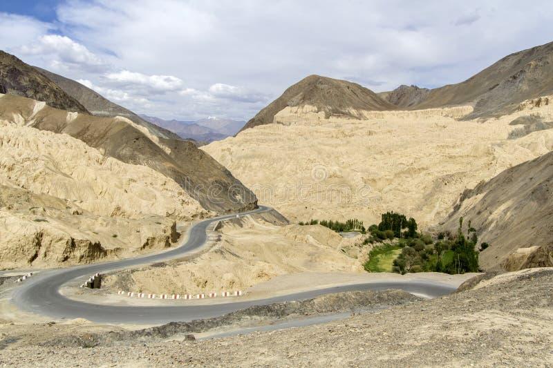 Horizontal de montagne dans Ladakh, Inde photo libre de droits