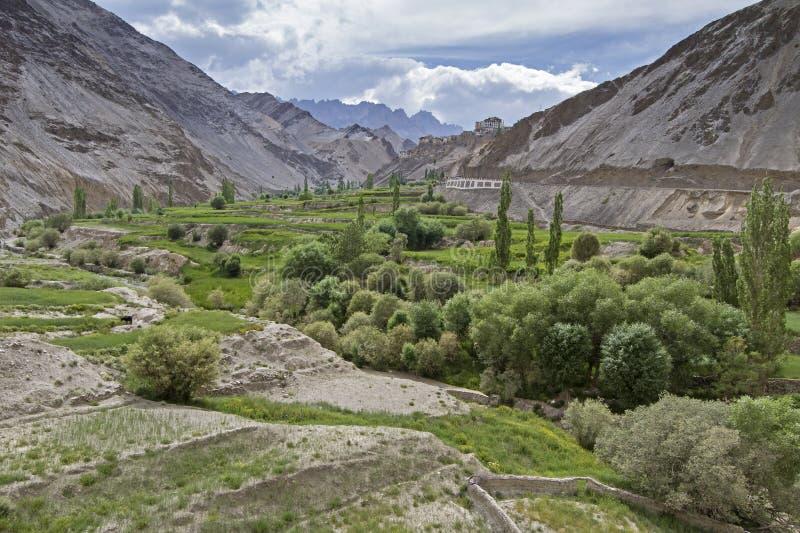 Horizontal de montagne dans Ladakh, Inde images libres de droits