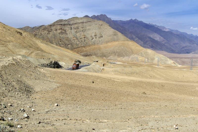 Horizontal de montagne de Ladakh, Inde images libres de droits