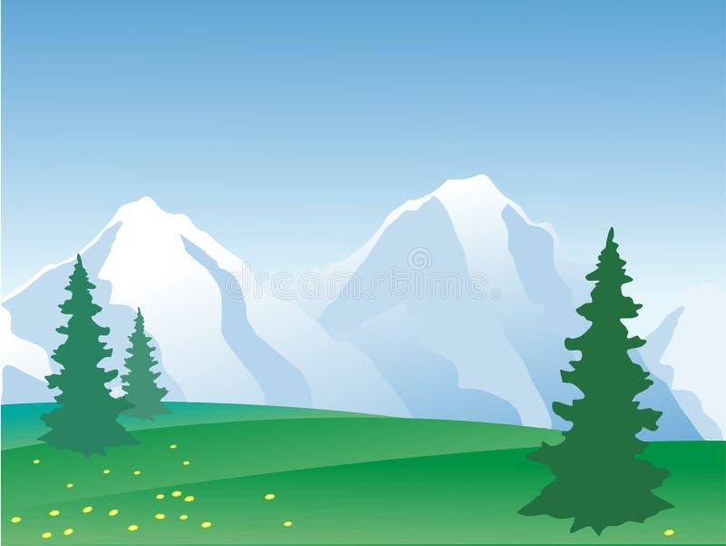 Horizontal de montagne de vecteur illustration de vecteur