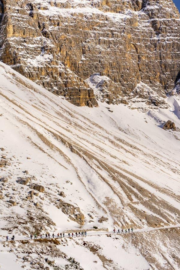 Horizontal de montagne, dolomites, Italie images libres de droits