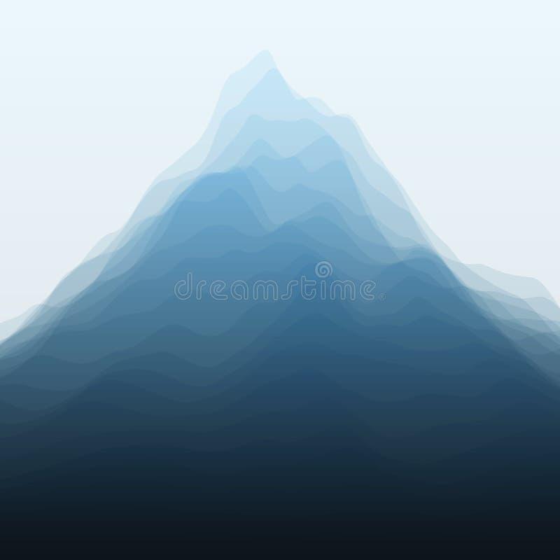 Horizontal de montagne Silhouettes de vecteur de illustration libre de droits