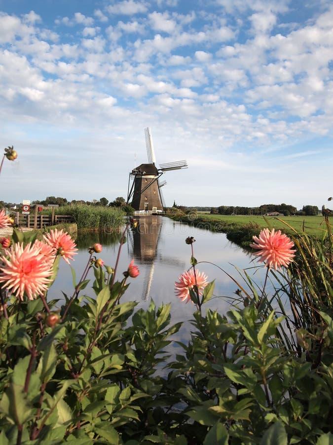 Horizontal de moulin à vent en Hollande image stock