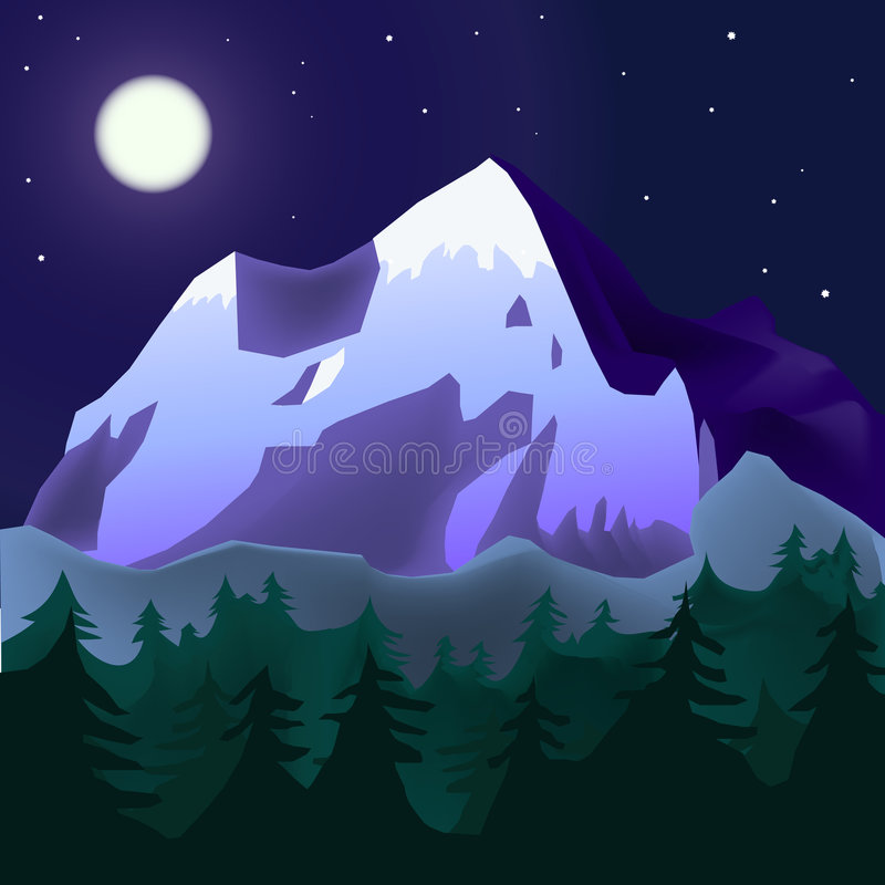 Horizontal de Mountins illustration stock