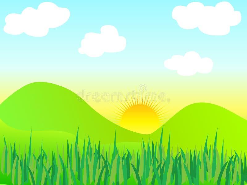 Horizontal de nature illustration de vecteur