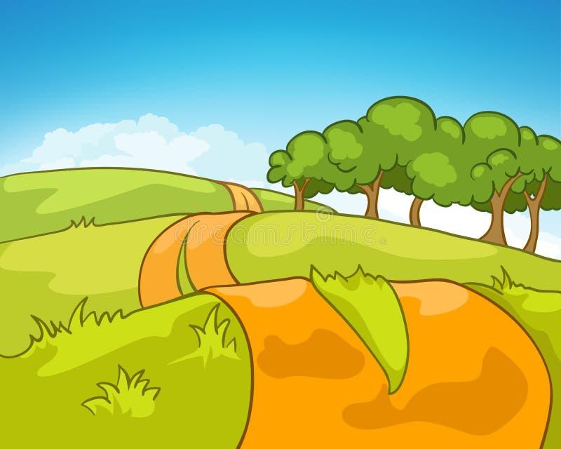 Horizontal de nature de dessin animé