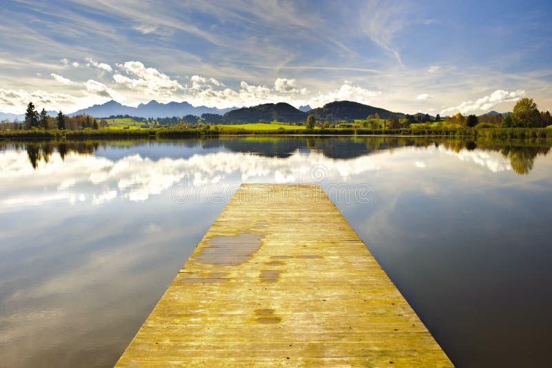 Horizontal de panorama en Bavière photo libre de droits