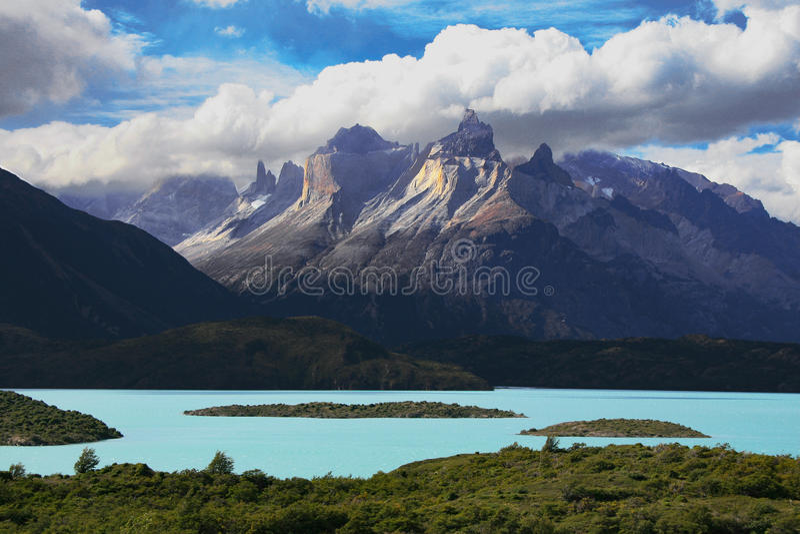 Horizontal de Patagonia images stock
