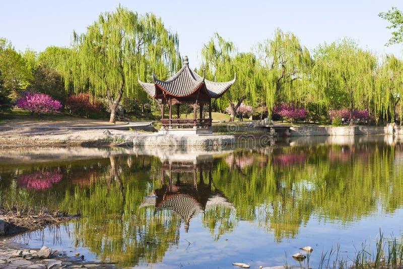Horizontal de pavillon chinois photographie stock libre de droits