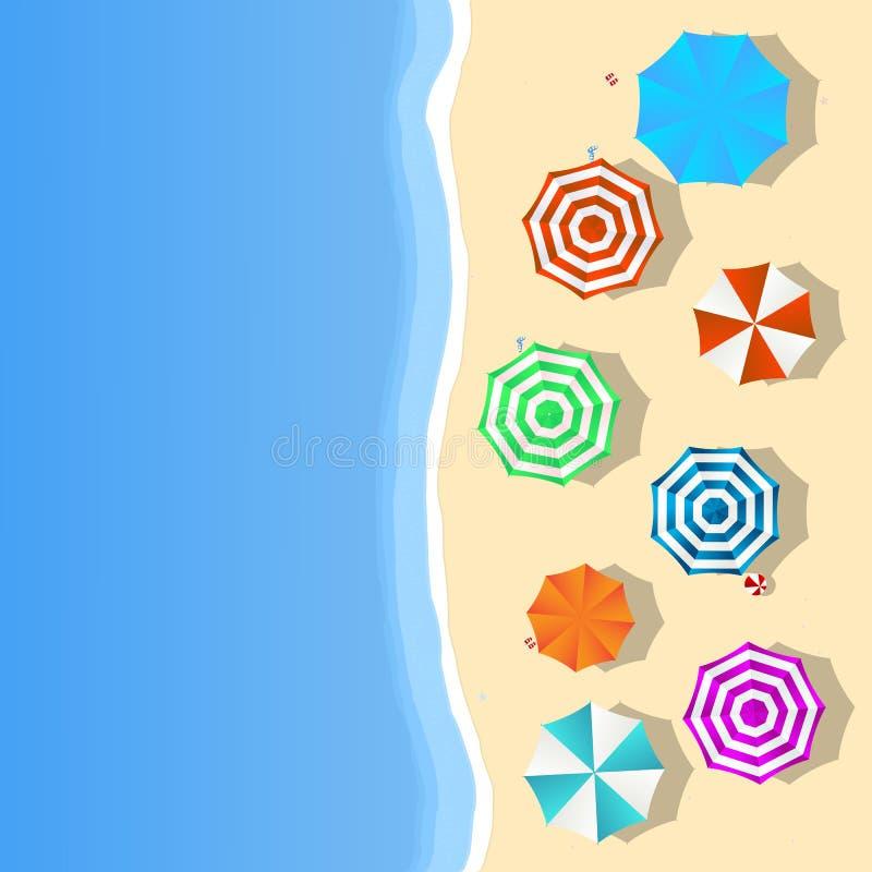 Horizontal de plage illustration libre de droits