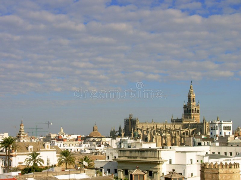 Horizontal de Séville photo stock