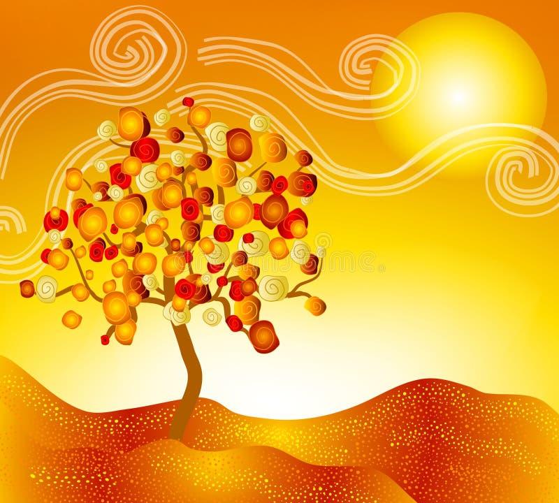 Horizontal de scène d'automne d'automne illustration libre de droits