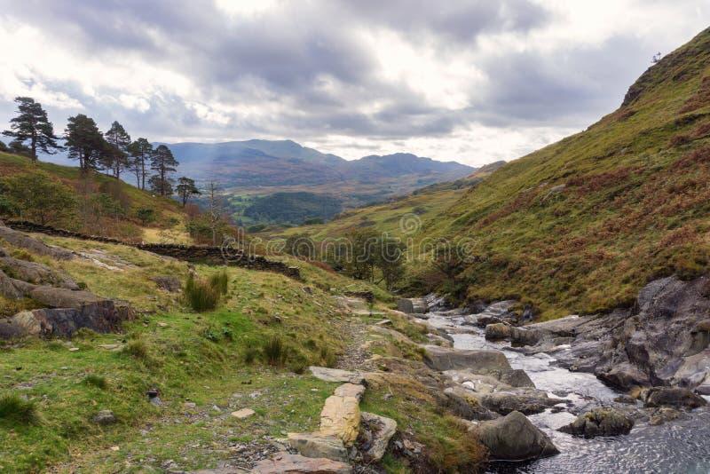 Horizontal de Snowdonia photographie stock
