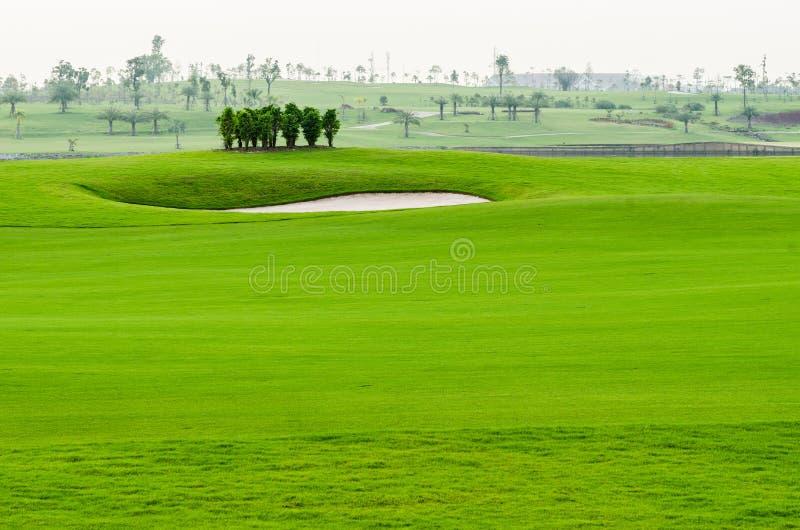 Horizontal de terrain de golf photo stock