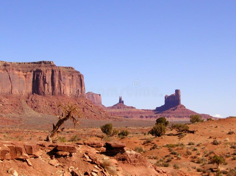 Horizontal de vallée de monument images libres de droits
