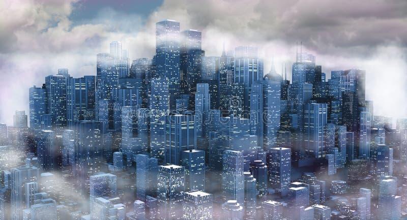 Horizontal de ville illustration libre de droits