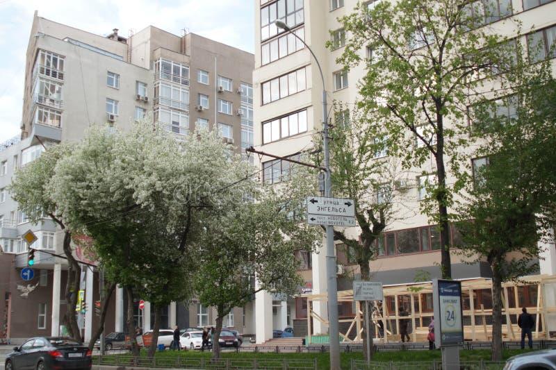 Horizontal de ville Vue d'un fragment de rue de Belinsky photos libres de droits
