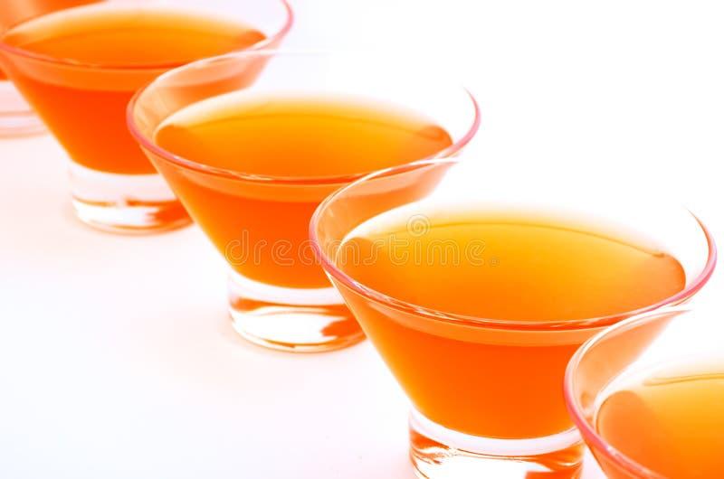 Horizontal diagonal de gelée orange images stock