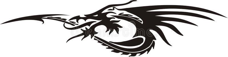 Horizontal Dragons. stock illustration