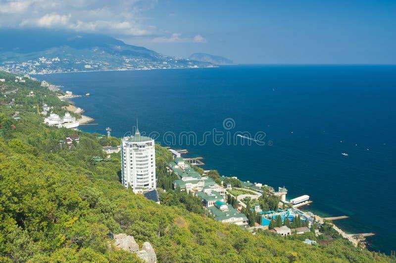 Horizontal du rivage de ressource de la Mer Noire photographie stock