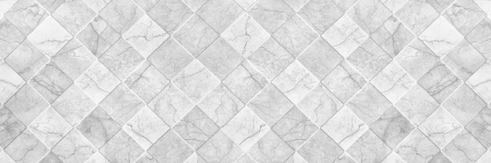 Horizontal elegant white ceramic tile texture for pattern and ba. Ckground royalty free stock photography