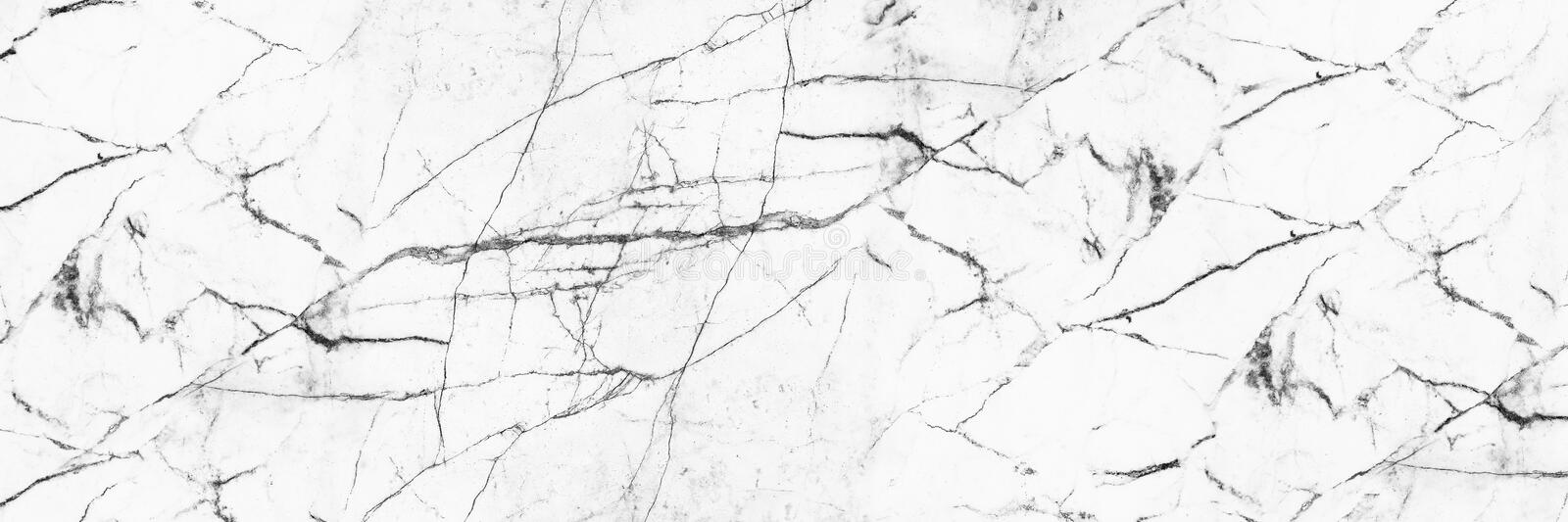 Horizontal elegant white marble texture for pattern and background.  stock photo