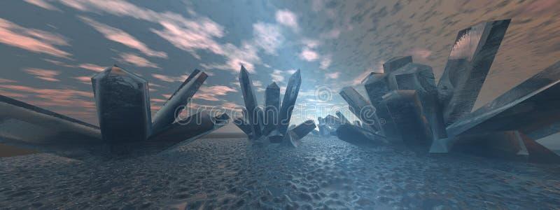 Horizontal en cristal 2 illustration libre de droits