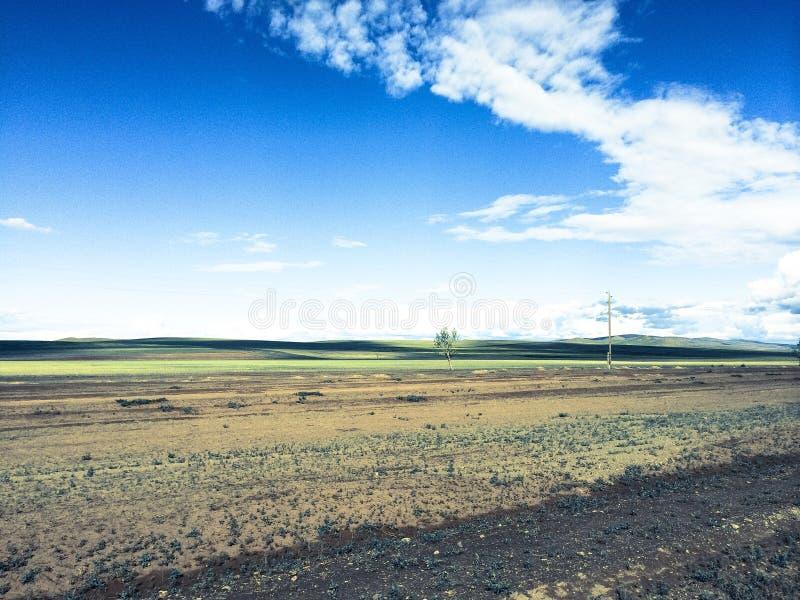 Horizontal en Mongolie photographie stock libre de droits