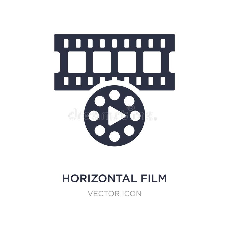 horizontal film strip icon on white background. Simple element illustration from Technology concept stock illustration