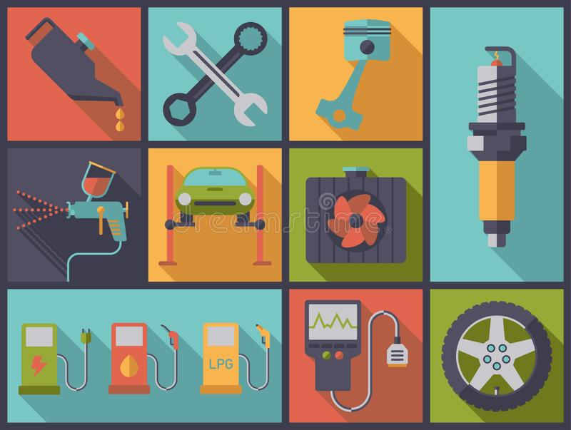 Car services and repair vector illustration stock illustration