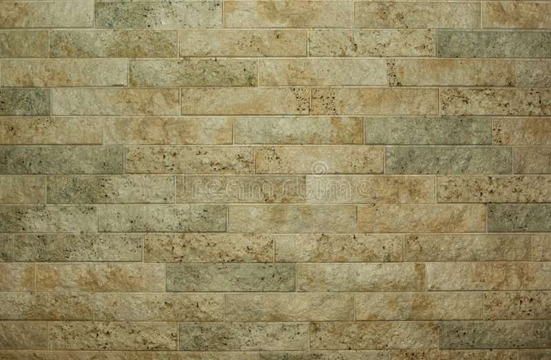 Horizontal flat stacked stone wall