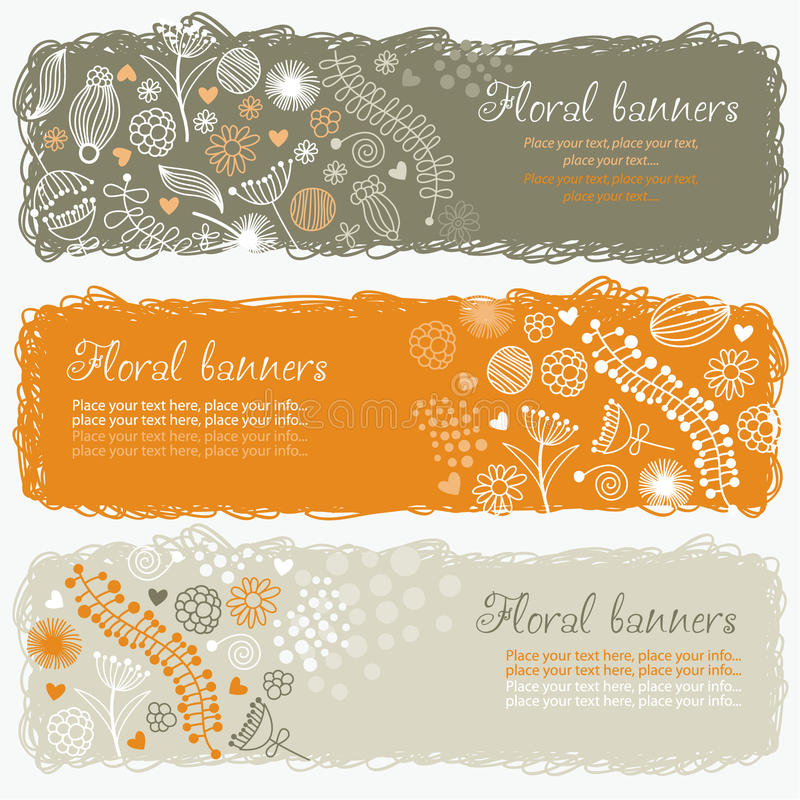 Download Horizontal floral banners stock vector. Illustration of horizontal - 13685776