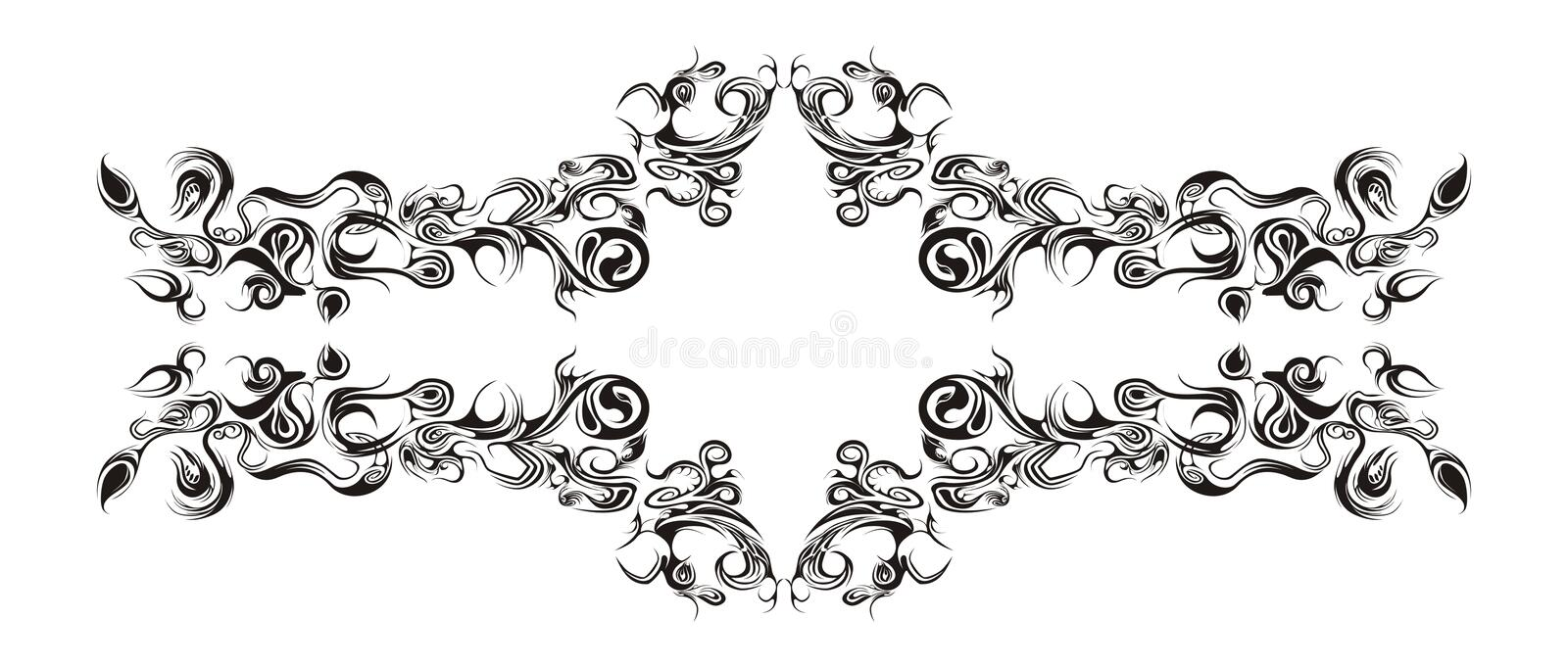 Horizontal floral ornament royalty free stock photography