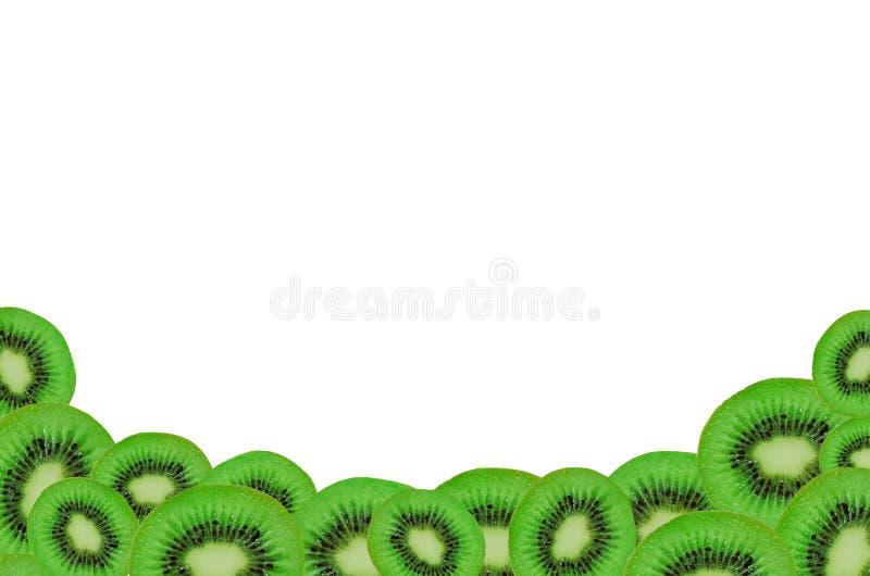 Horizontal frame made of sliced kiwi stock images