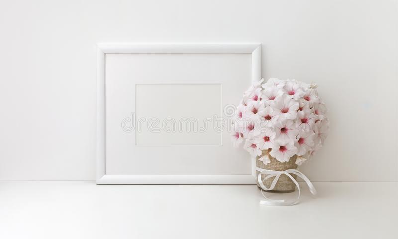 Horizontal frame mockup, styled stock photos royalty free stock photos