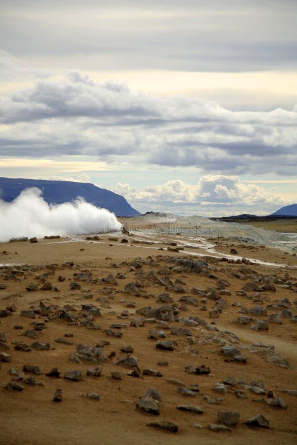 Horizontal géothermique étonnant image libre de droits