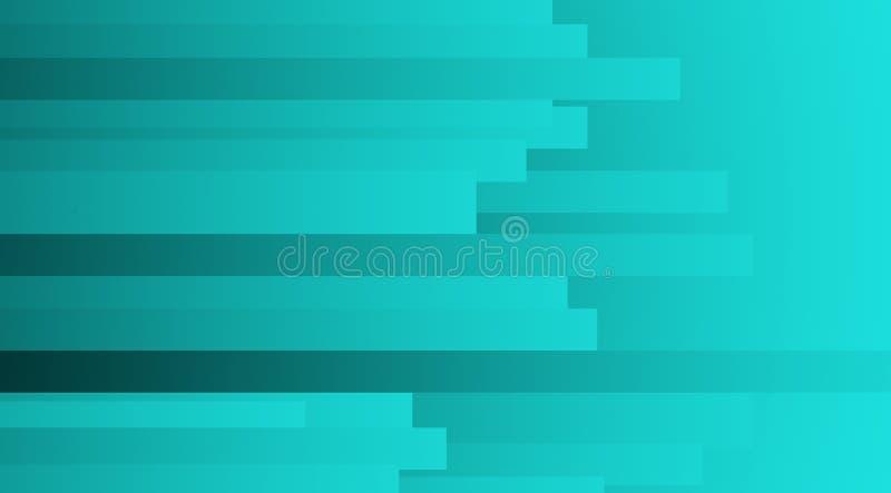 Horizontal gefärbte, dünne, transparente Rechteckformen, die sich überschneiden, digitaler Hintergrund 1 stock abbildung