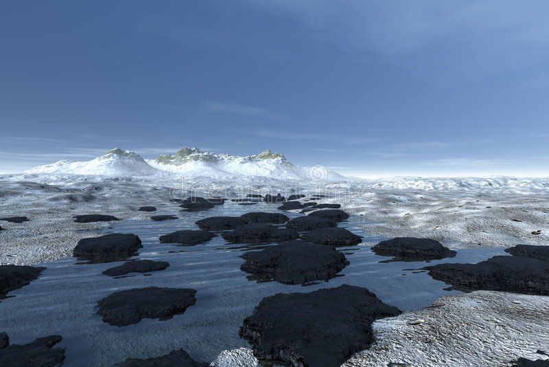 Horizontal glacial de montagne images stock