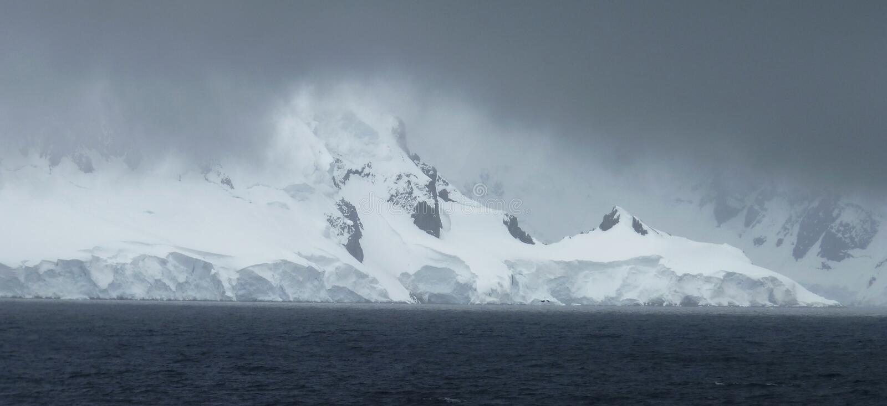 Horizontal glacial en Antarctique photo stock