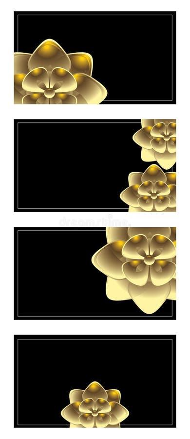 Horizontal gold business card set stock illustration
