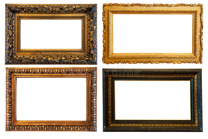 Download Horizontal  Gold Picture Frames Stock Photo - Image: 23232528
