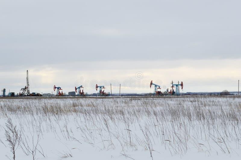 Horizontal industriel des hivers photos libres de droits