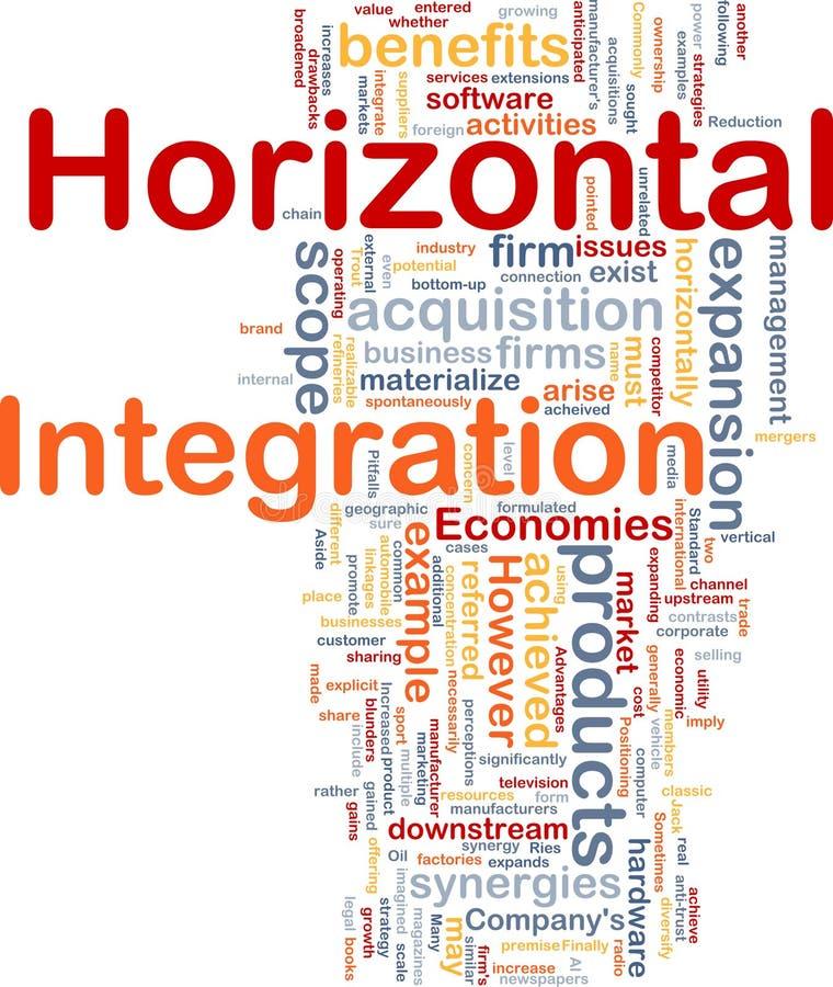 Horizontal integration background concept vector illustration