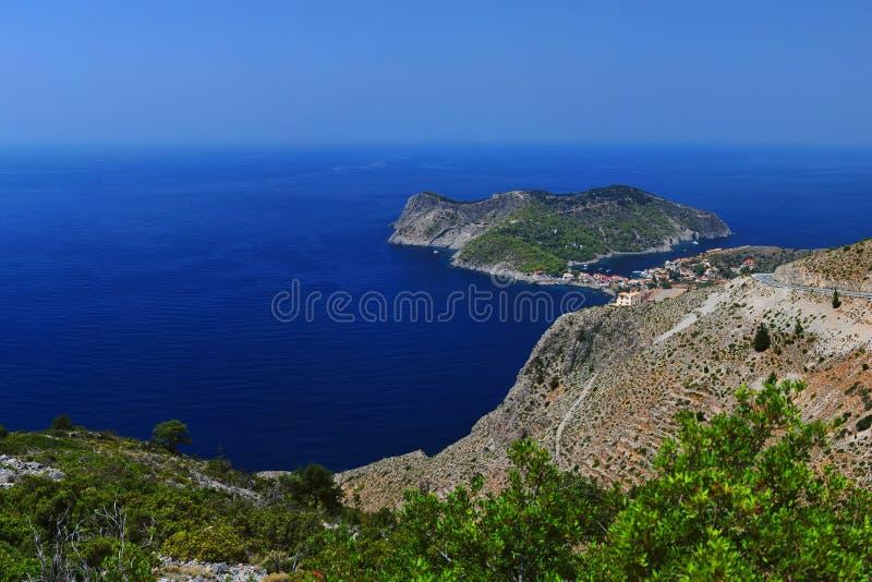 Horizontal ionien - Kefalonia Grèce photographie stock libre de droits