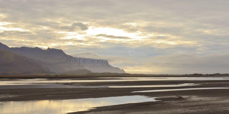 Horizontal Islande photos libres de droits